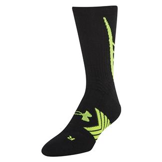 Under Armour Undeniable Crew Socks Black / Hi-Vis Yellow