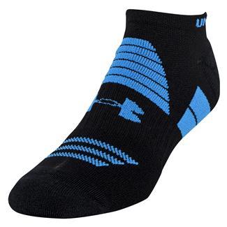 Under Armour Armourlite No Show Socks Black / Blue Jet