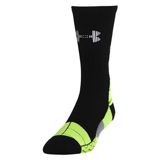 Under Armour Illumination Run Crew Socks Black / Hi-Vis Yellow