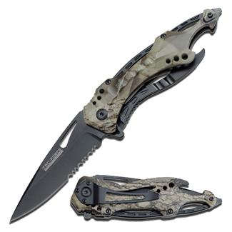 Tac-Force Speedster Spring Assisted Folder Knife Gray Camo / Black Serrated Edge