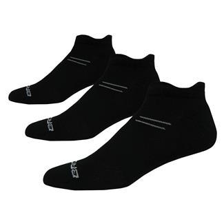 Brooks Versatile Double Tab Socks (3 pack) Black