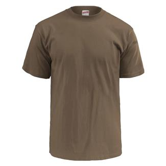 Soffe Lightweight Military T-Shirt (3 Pack) Army Brown