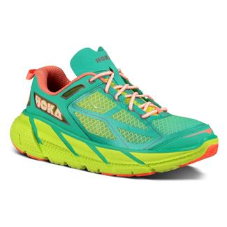 Hoka One One Clifton Acid / Aqua / Neon Coral