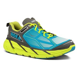 Hoka One One Clifton Citrus / Cyan / Gray