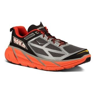 Hoka One One Clifton Silver / Flame / Black