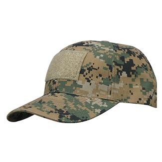 Propper Cotton / Poly Ripstop 6-Panel Hat With Loop Field Digital Woodland