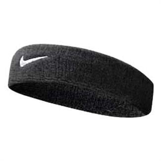 NIKE Swoosh Headband Black / White