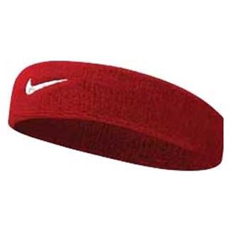 NIKE Swoosh Headband Varsity Red / White
