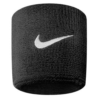 NIKE Swoosh Wristband (2 pack) Black / White