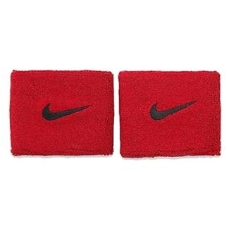NIKE Swoosh Wristband (2 pack) Sport Red / Black