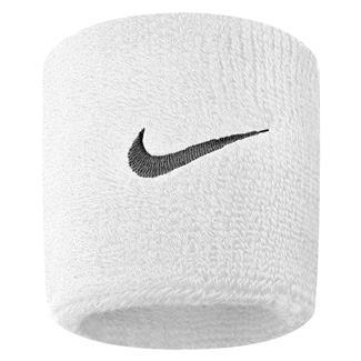 NIKE Swoosh Wristband (2 pack) White / Black