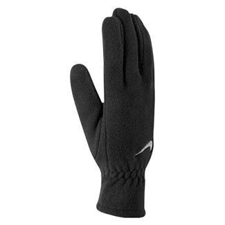 NIKE Fleece Gloves Black / White