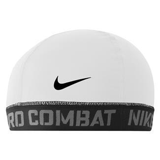 NIKE Pro Combat Banded Skull Cap 2.0 White