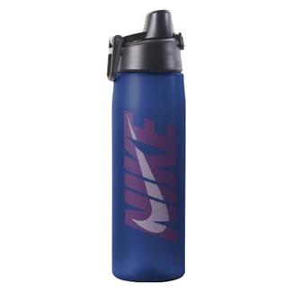NIKE Core Hydro Flow Graphic Water Bottle Game Royal / Challenge Red / White
