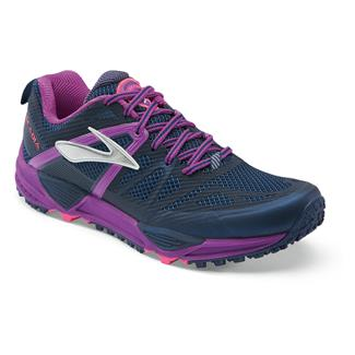 Brooks Cascadia 10 Midnight / Purple Cactus Flower