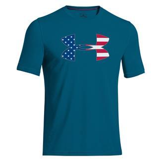 Under Armour Big Flag Logo T-Shirt Sapphire Lake / White
