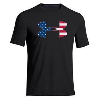 Under Armour Big Flag Logo T-Shirt Black / White