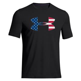 Under Armour Big Flag Logo T-Shirt Black / White