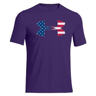 Under Armour Big Flag Logo T-Shirt Purpleheart / White