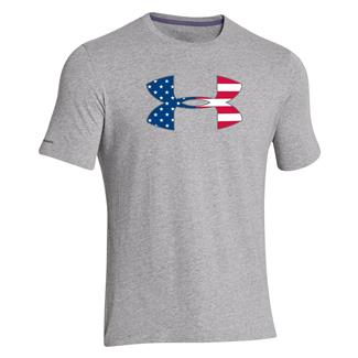 Under Armour Big Flag Logo T-Shirt True Gray Heather / Abyss