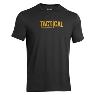 Under Armour Tactical Logo T-Shirt Black / Ochre