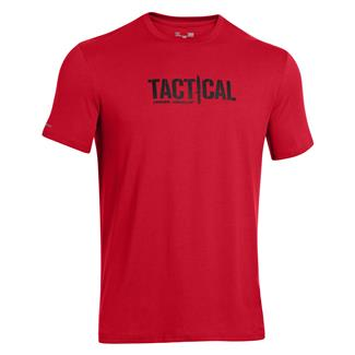 Under Armour Tactical Logo T-Shirt Red / Black