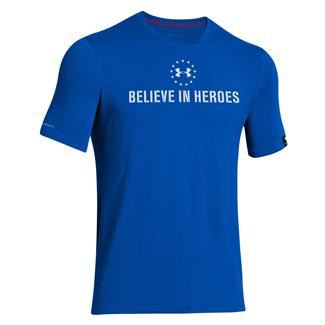 Under Armour WWP Believe In Heroes T-Shirt Moon Shadow / White