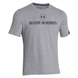 Under Armour WWP Believe In Heroes T-Shirt True Gray Heather / Black