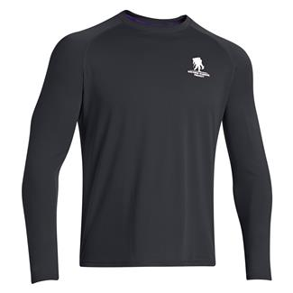 Under Armour WWP Tech Long Sleeve T-Shirt Dark Navy Blue / White