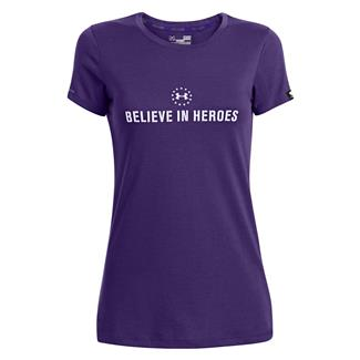 Under Armour WWP Believe In Heroes T-Shirt Purpleheart / White