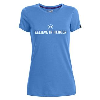 Under Armour WWP Believe In Heroes T-Shirt Picasso Blue / White