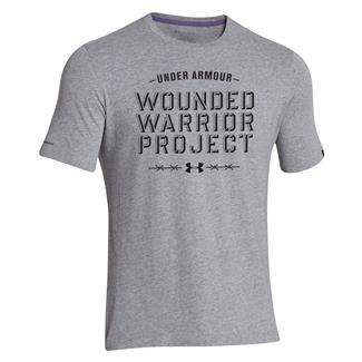 Under Armour WWP Barbed Wire T-Shirt True Gray Heather / Black