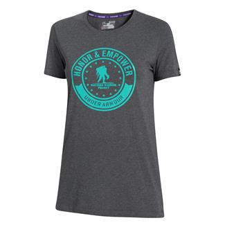 Under Armour WWP Honor And Empower T-Shirt Carbon Heather / Gazebo Green