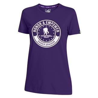 Under Armour WWP Honor And Empower T-Shirt Purpleheart / White