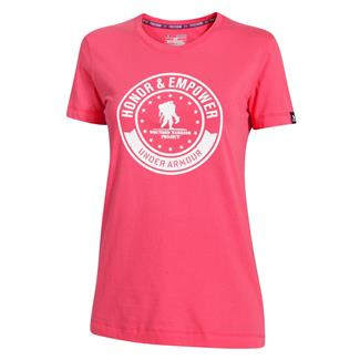 Under Armour WWP Honor And Empower T-Shirt Pink Shock / White