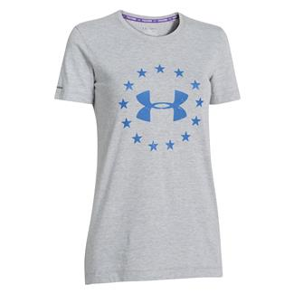 Under Armour Freedom T-Shirt True Gray Heather / Picasso Blue