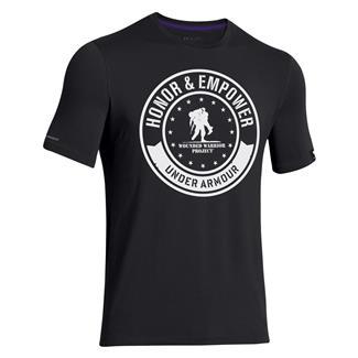 Under Armour WWP Circle T-Shirt Black / White