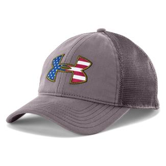 Under Armour Big Flag Logo Mesh Hat Strom / White/ Dary