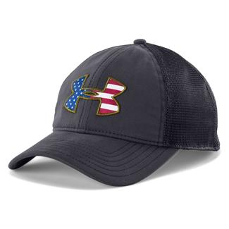 Under Armour Big Flag Logo Mesh Hat Navy Blue / White