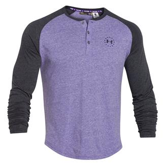 Under Armour WWP Tri-blend Long Sleeve T-Shirt Purpleheart / Black