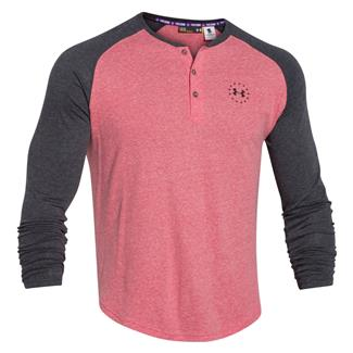 Under Armour WWP Tri-blend Long Sleeve T-Shirt Red / Black