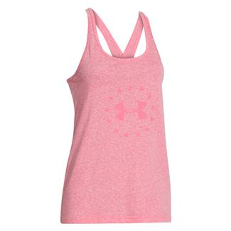 Under Armour Freedom Tri-blend Tank Pink Shock