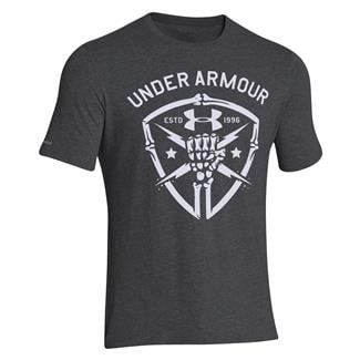 Under Armour Black Ops Fist T-Shirt Carbon Heather / White
