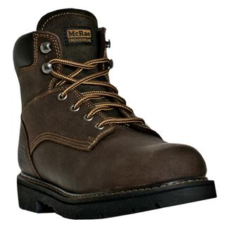 "McRae Industrial 6"" Lace-Up ST Dark Brown"