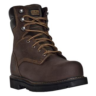 "McRae Industrial 8"" Lace-Up ST Dark Brown"