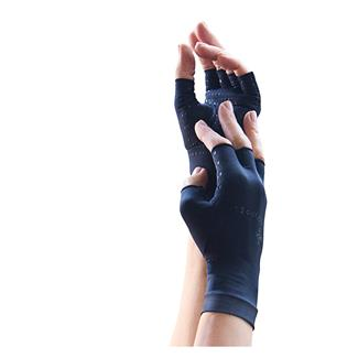Tommie Copper Recovery Compression Fingerless Gloves Black