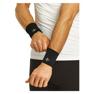 Tommie Copper Recovery Compression Wrist Sleeve (2 Pack) Black
