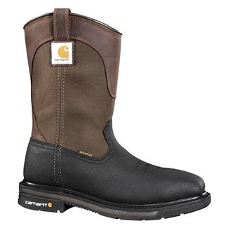 "Carhartt 11"" Mud Wellington Square Toe ST WP Bison Brown"
