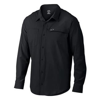 Oakley Long Sleeve Agility Woven Shirt Jet Black