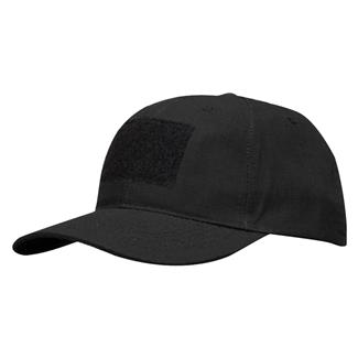 Propper Poly / Cotton Ripstop 6-Panel Hat With Loop Field Black